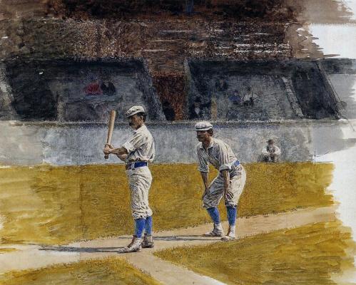 Thomas Eakins. Training baseball players