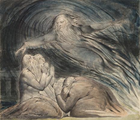 Уильям Блейк. Книга Иова. Бог отвечает Иову ветром