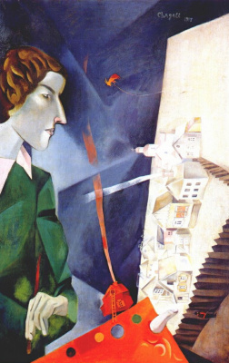 Marc Chagall. Self-portrait with palette