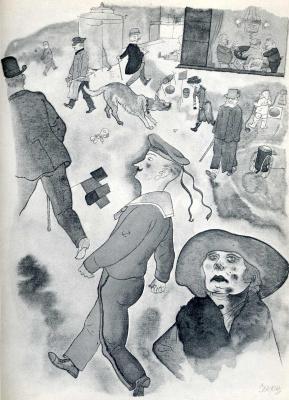 Георг Гросс. Женщина в шляпе