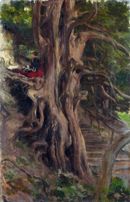 Frederic Leighton. Trees in Clividen