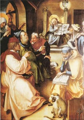 Альбрехт Дюрер. Двенадцатилетный Иисус в храме