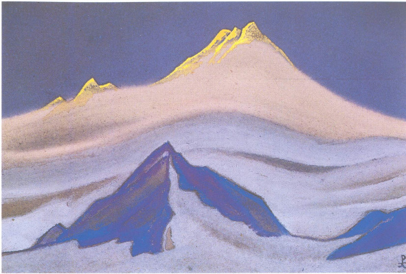 Nicholas Roerich. The Himalayas (Sun top)