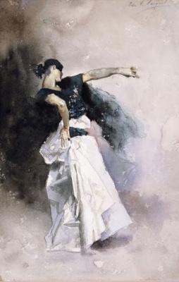 """John Singer Sargent. The Spanish dancer. Sketch for """"El Jaleo"""""""