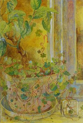 Olga Nikolaevna Chistova. Flowers on the windowsill