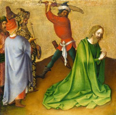 Stefan Lochner. The Martyrdom of St. James the Elder.