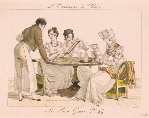 Жорж-Жак Гатин. В кафе