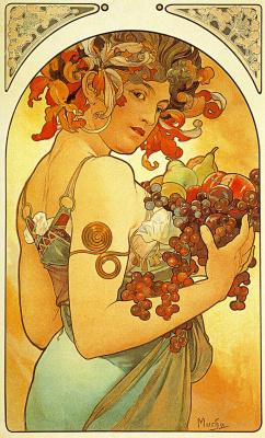 Alphonse Mucha. Fruit