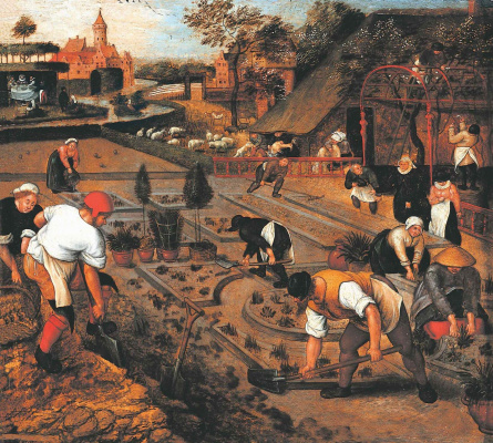 Peter Brueghel The Younger. Spring. Work in the garden