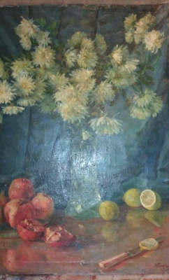 Victor Stepanovich Podgursky. Still life with flowers