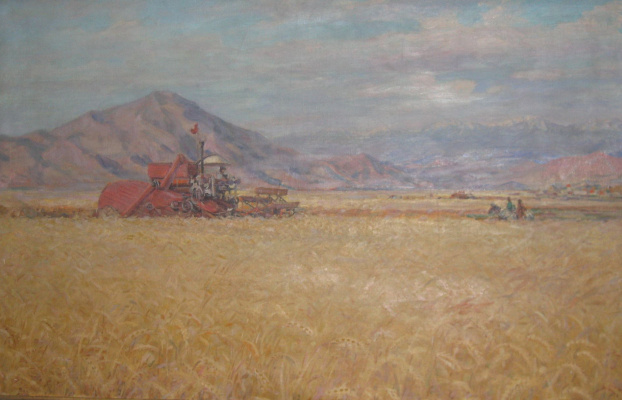 Vasily Fadeevich Demin. On the collective farm fields of Tuva