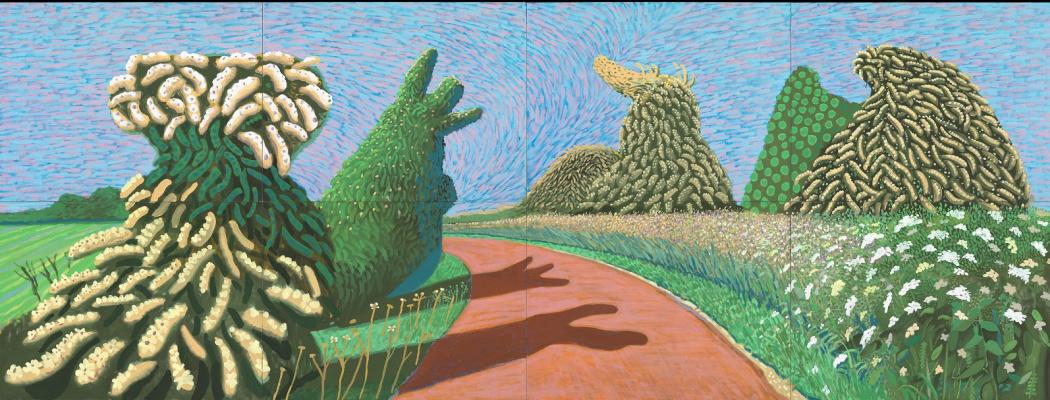 David Hockney. May Blossom on the Roman Road