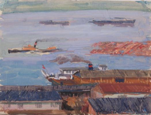 Maria Markovna Dzhagupova. Boat on Kame