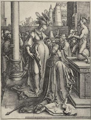 Lucas van Leiden (Luke of Leiden). The Idolatry Of Solomon