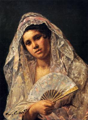 Mary Cassatt. Spanish dancer in lace