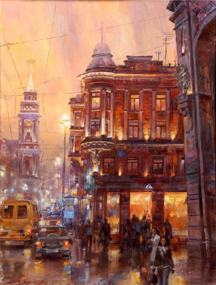 Ivan Efimovich Slavinsky. Lights of the night city