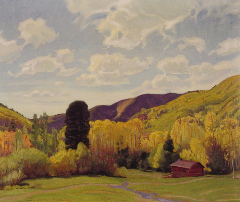 Эрнест Мартин Хеннингс. Вид на каньон