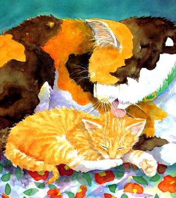 Джейн Дайер. Спящий котенок