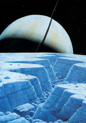 William Hartmann. Fracture on Enceladus