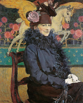 Юзеф Мехоффер. Портрет жены с пегасом