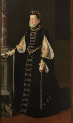Sofonisba Anguissola. Isabella Valois with a portrait of Philip II