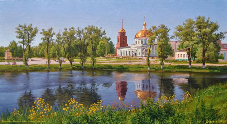 Alexander Vasilyevich Zoryukov. Kirov Kaluga. View of the Alexander Nevsky Church