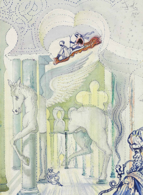 Сальвадор Дали 1904 - 1989 Испания. Крылатый конь Пегас. 1966