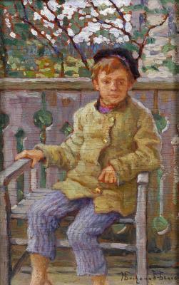 Nikolay Petrovich Bogdanov-Belsky. Boy on a chair