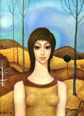 Маргарет Кин. Девушка в лесу