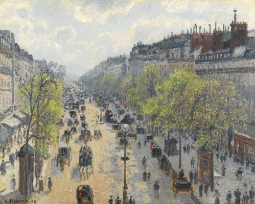 Camille Pissarro. The Boulevard Montmartre. Spring morning