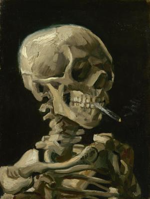 Vincent van Gogh. Skull with a lit cigarette