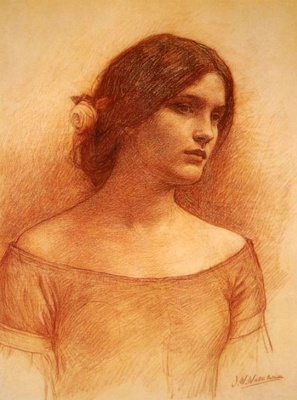 John William Waterhouse. Lady Claire. Etude