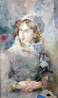 Артур Владимирович Фонвизин. Портрет актрисы Дарьи Зеркаловой. 1940-е