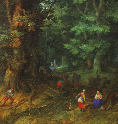 Jan Bruegel The Elder. Forest landscape