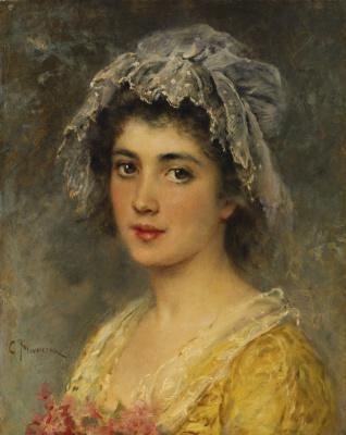 Константин Егорович Маковский. Портрет молодой дамы