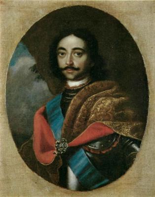 Иван Николаевич Адольский. Портрет Петра I. До 1725  Овал.