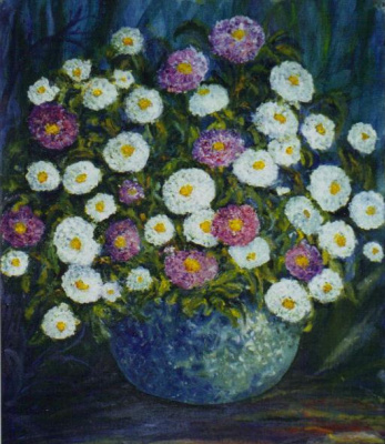 Rita Arkadievna Beckman. Asters - the stars in the autumn garden
