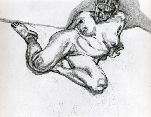 Lucien Freud. Woman without clothes