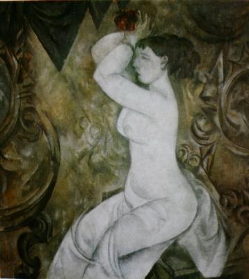 Александр Васильевич Шевченко. «Женщина у зеркала» 1913