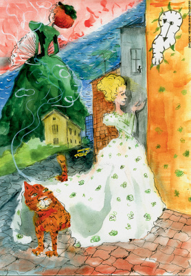 "Natasha Monastic. Illustration to the magazine ""Russian Pioneer"""