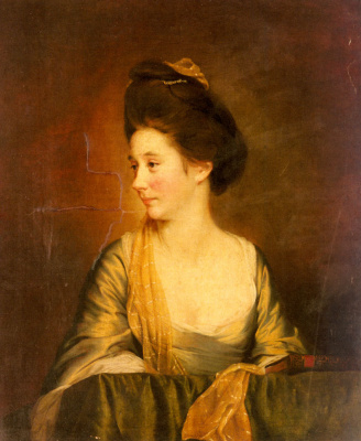 Joseph Wright. Portrait Of Suzanne Lee