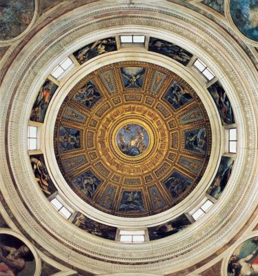 Рафаэль Санти. Роспись купола часовни Киджи церкви Санта-Мария-дель-Пополо, Рим