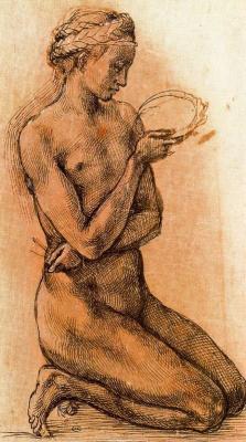 Микеланджело Буонарроти. Обнаженная девушка