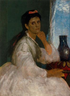 Арнольд Бёклин. Женщина в белом платье