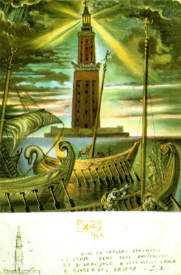 Salvador Dali. The lighthouse of Alexandria