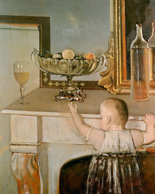 Balthus (Balthasar Klossovsky de Rola). Child at the table