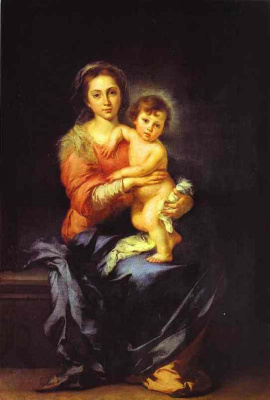 Бартоломе Эстебан Мурильо. Мадонна с младенцем