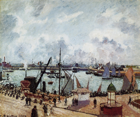 Camille Pissarro. The inner Harbor, the port of Le Havre.