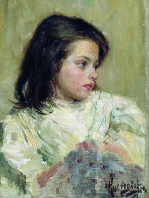 Boris Mikhailovich Kustodiev. The girl's head