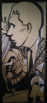 Алла Александровна Горская. Poster by the evening of Anatol Petritsky